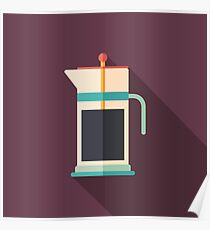 French Press Coffee Poster