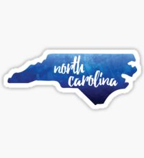 North Carolina - blue watercolor Sticker