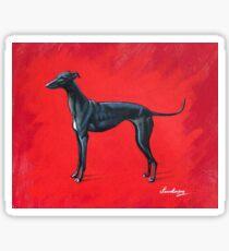 Black Greyhound Sticker