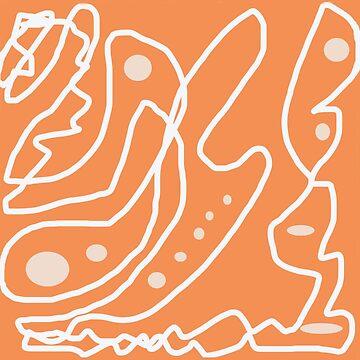 orange perl abstractive by tatyanash
