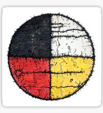 Four Colors mandala Sticker