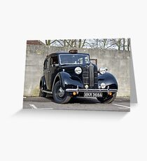 1957 Austin FX3 Taxi XKR 368A Greeting Card