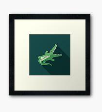 Love Crocodile Framed Print