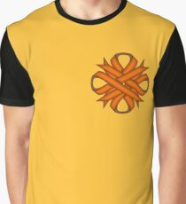 Orange Clover Ribbon Graphic T-Shirt
