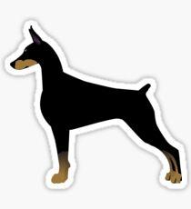 Doberman Pinscher Basic Breed Silhouette Sticker