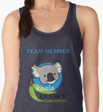 Koala Clancy Foundation Team Member - blue text Women's Tank Top