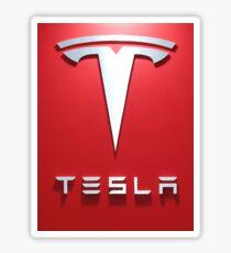 Tesla Red 1 Sticker