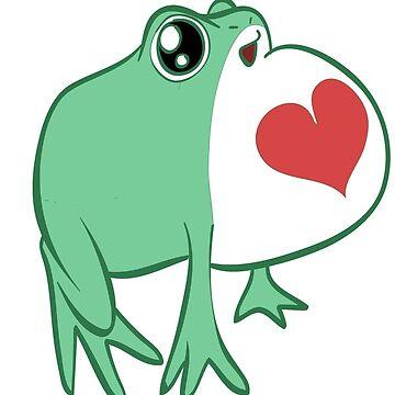 Grüner Liebes-Frosch von SaradaBoru