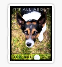 Terrier Obsession: It's All About The Ball Sticker