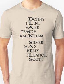 Black Sails (Black Text) Unisex T-Shirt