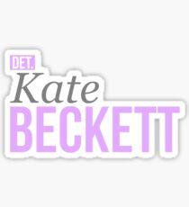 Detective Kate Beckett Sticker