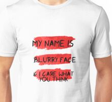My Name is Blurry Face - Lyric Water Color Unisex T-Shirt