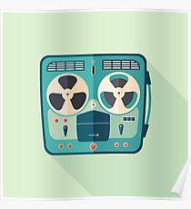 Reel to Reel Tape Recorder Poster