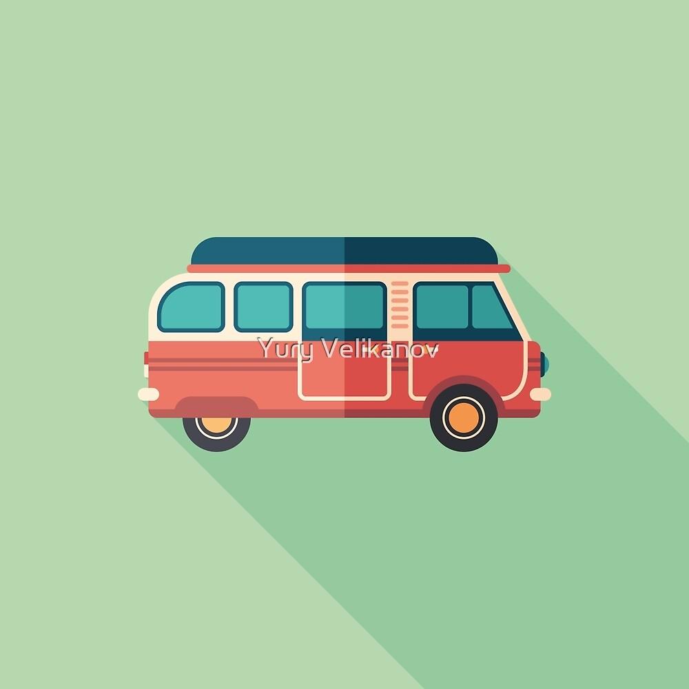 Retro Minivan by Yury Velikanov