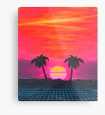 Retro sunset 2 Metal Print
