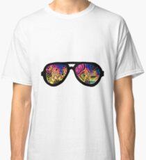 Galaxy Watercolor Zentangle Sunglasses Classic T-Shirt