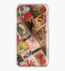 Retro Vintage Matchboxes iPhone Case/Skin