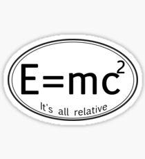 Special Relativity It's all Relative Sticker