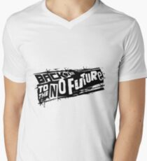 Volver al No futuro Camiseta para hombre de cuello en v