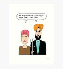 American Gothic: We are from right here. Art Print