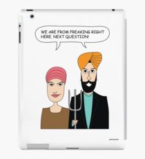 American Gothic: We are from right here. iPad Case/Skin