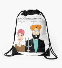 American Gothic: We are from right here. Drawstring Bag