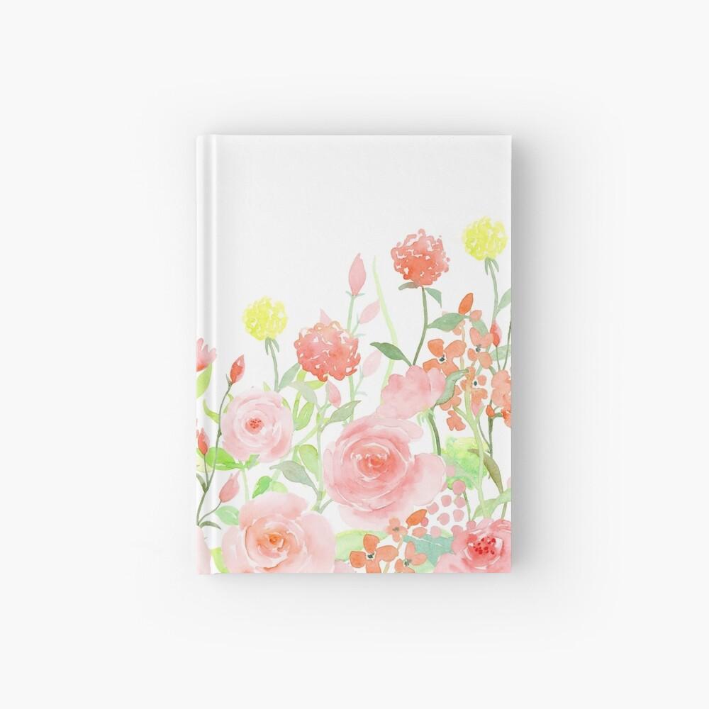 Watercolor Roses Hardcover Journal