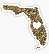 Florida + Glitter  Sticker