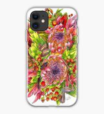 Berries & Proteas iPhone Case