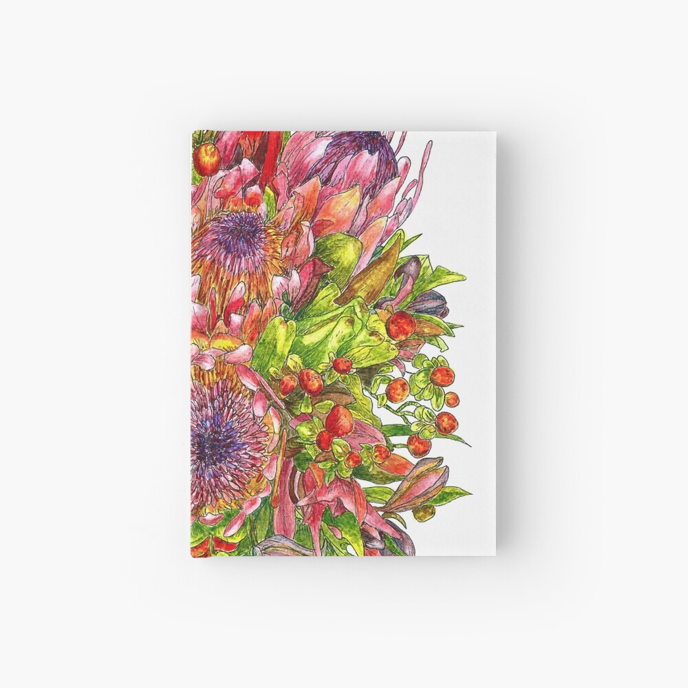 Berries & Proteas Hardcover Journal