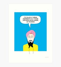 What under the Turban? Art Print