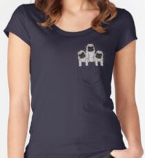 Pocket Pug Women's Fitted Scoop T-Shirt