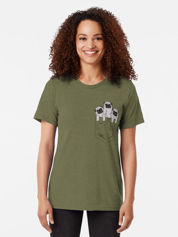 Vista alternativa de Camiseta de tejido mixto Pocket Pug