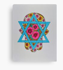Hamsa/2 - Star of David Canvas Print