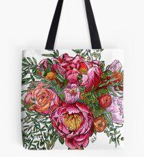 Peonies and Roses Tote Bag