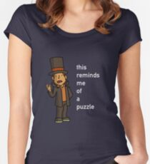 Professor Layton: This reminds me of a puzzle Women's Fitted Scoop T-Shirt