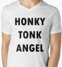 honky tonk angel V-Neck T-Shirt