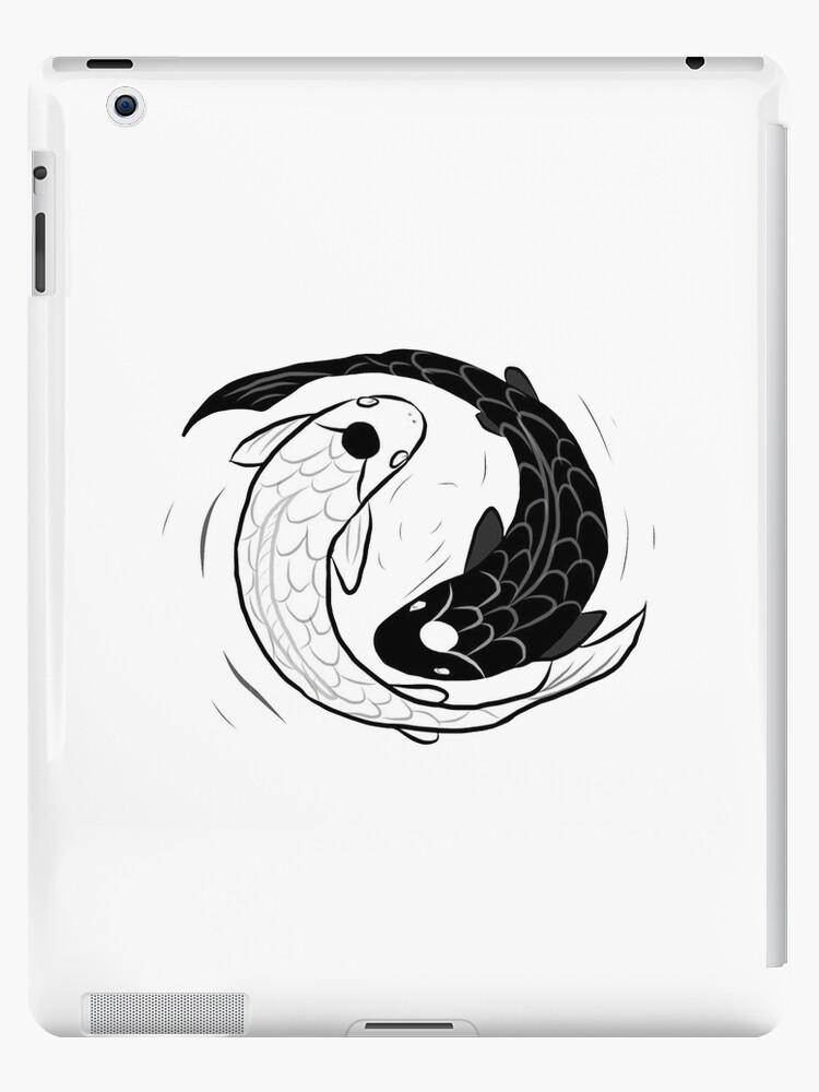 Ipad Drawing Of Koi Fish Ying Yang Ipad Cases Skins By