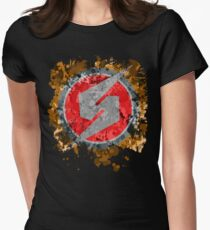 Metroid Symbol Splatter Womens Fitted T-Shirt