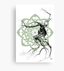 Celtic world tree ink drawing Canvas Print