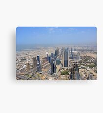 Photography of tall skyscrapers in Dubai. United Arab Emirates. Canvas Print
