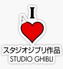 I love Studio Ghibli <3 Cute design Sticker