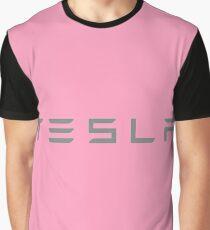 Tesla 5 Letters Graphic T-Shirt