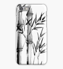 Black and white bamboo forest iPhone Case/Skin