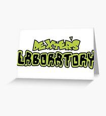 Dexters Labratory Logo Greeting Card