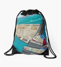 Chevrolet Bel Air rear quarter Drawstring Bag