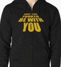 May The 4th Be With You (Star Wars Day) Zipped Hoodie