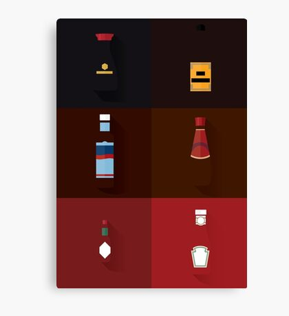 Sauce Spectrum Canvas Print
