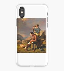 wi18William Tylee Ranney (American artist, ) The Wounded Hound iPhone Case/Skin