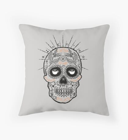 coffee brings me back from the dead Throw Pillow